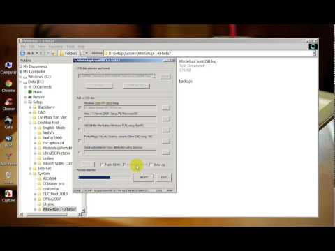 Hướng dẫn cài Window XP từ USB, setup winxp from usb