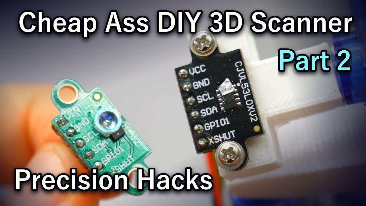 Worst DIY 3D Scanner in the World - Part 2 [Arduino, ESP8266, Lidar, WiFI,  WebGL]