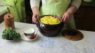 Мясо в горшочке с картошкой вкусное