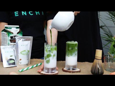 Coco-Encha: Iced Coconut Milk Matcha Tea