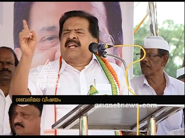 Ramesh Chennithala demands to take case against Pinarayi Vijayan in Sabarimala issue