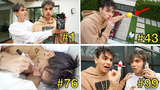 Download Pranking My Twin Brother 100 TIMES In The SAME DAY!!! Mp3 and Videos