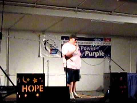 Aaron Singing Karaoke at Relay For Life