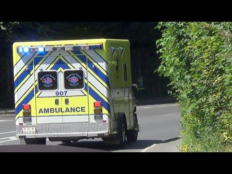 Ambulance 907 Genève // Ambulance responding in Geneva