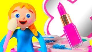 LITTLE PRINCESS NEW MAKE UP SET ❤ SUPERHERO PLAY DOH CARTOONS FOR KIDS