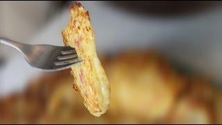 Деруны (драники) с беконом | Potato fritters with bacon (with subtitles RU/EN)
