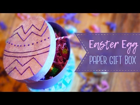 How To Make An Easter Egg Gift Box  🐣   DIY Gift Box - Paper Crafts