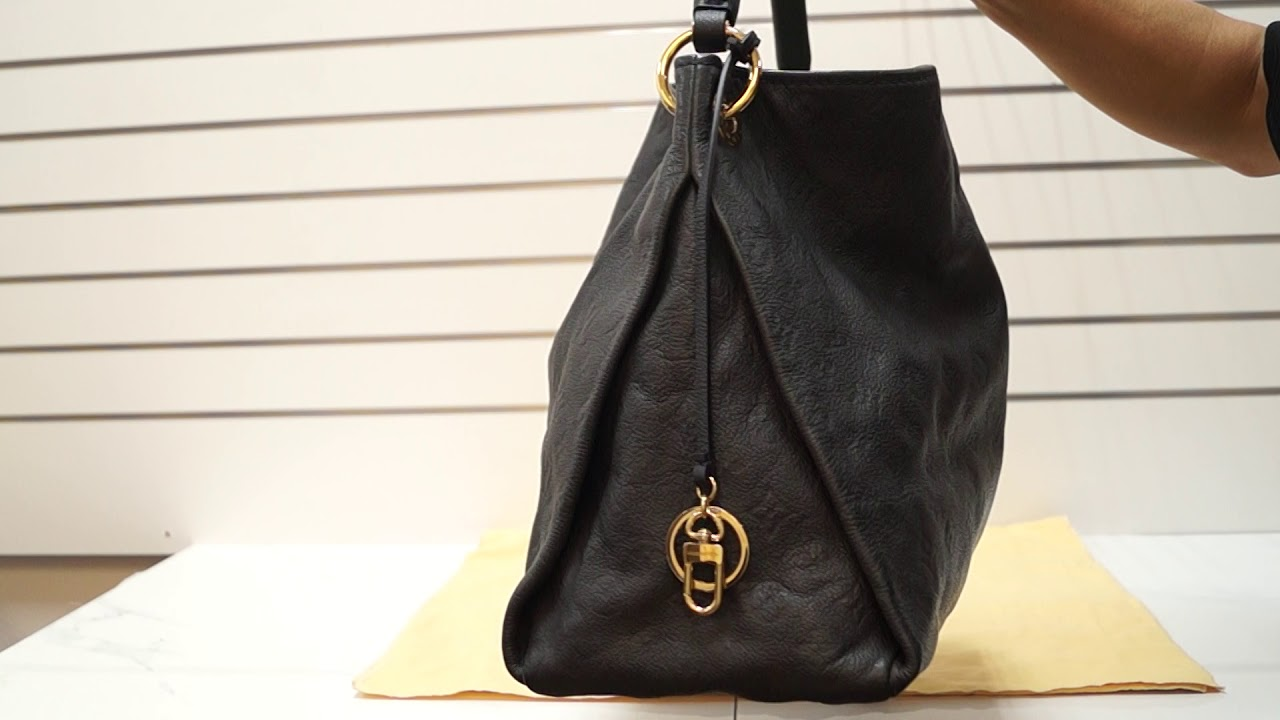 51e360576e71e Louis Vuitton Artsy MM Empreinte Blue Infini Monogram Shoulder Bag TT3018.  Dallas Designer Handbags