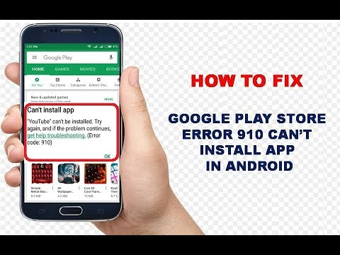 How to fix Google Play Store Error, Can't Install App in Android