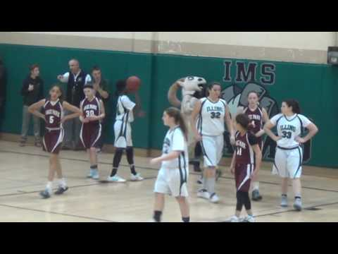 Illing Middle School Girls Basketball Playoff game vs. Sage Park Feb 2017