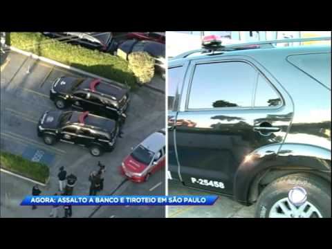 Criminosos trocam tiros com vigias em tentativa de assalto a banco