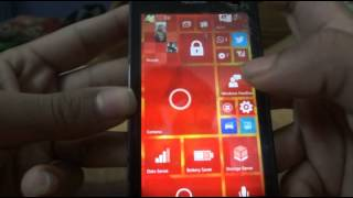 Demo of Windows 10 for Phones on Lumia 520