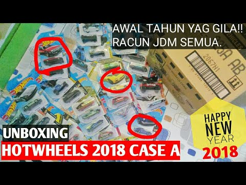 UNBOXING HOTWHEELS 2018 CASE/LOT A INDONESIA - NISSAN SKYLINE R30, FAIRLADY Z, CUSTOM DATSUN 240Z