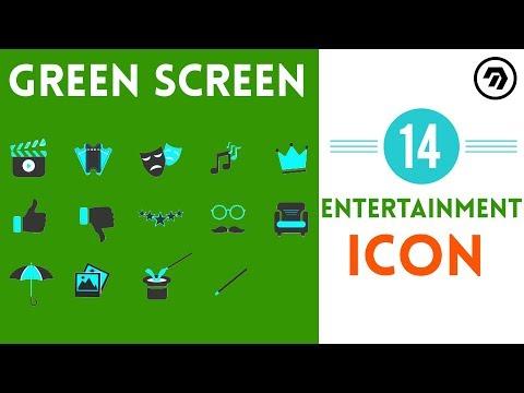 14 Green Screen entertainment Icon | mrstheboss