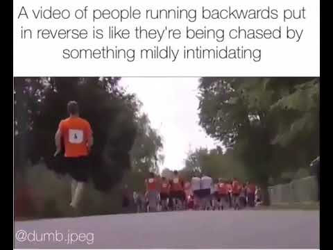 Running from something mildly intimidatingly