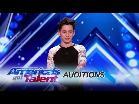 Henry Richardson: Teen Bewilders The Judges With Clever Card Trick - America's Got Talent 2017