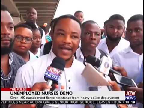 Unemployed Nurses Demo - The Pulse on JoyNews (29-10-18)
