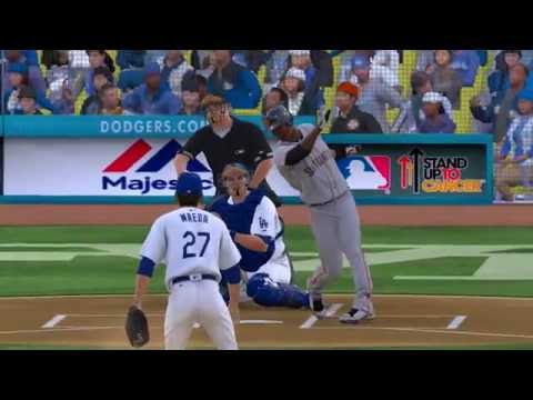San Francisco Giants Prospects vs Los Angeles Dodgers Prospects Furtures Game MLB The Show 16