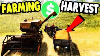 FIRST HARVEST, Getting RICH with OLD HARVESTER | Farmer Dynasty Gameplay