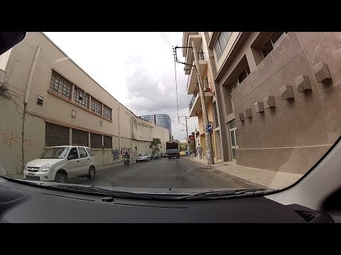 Driving from Agia Paraskevi to Nea Ionia, Athens (city driving, Greece) - onboard camera