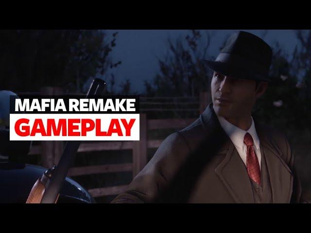Mafia Definitive Edition Gameplay Teaser - Mafia Remake Gameplay (4K)