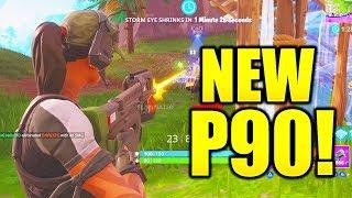"NEW ""COMPACT SMG GAMEPLAY"" FORTNITE NEW P90 GAMEPLAY! EPIC COMPACT SUBMACHINE GUN FORTNITE!"