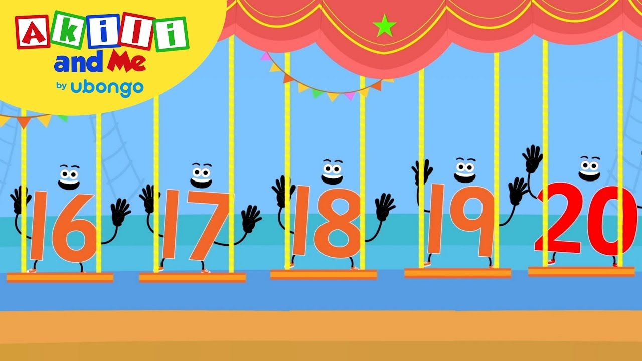 Count Big Numbers: 16 - 20 | Learn to Count with Akili | African Preschool Educational Songs