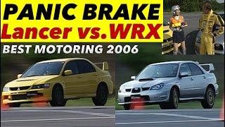 ランサー vs.WRX パニックブレーキ対決!!【Best MOTORing】2006