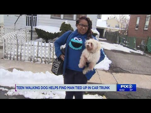 V Mornings - Teen Walking Dog Helps Save Kidnapped Man She Hears In Car Trunk #GoodNews