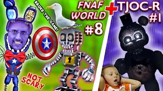 FNAF WORLD #8 + TJOC:Reborn - Five Nights At Freddy's FREE ROAM: FGTEEV Breaks the Game 4 a Shield
