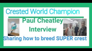 Paul Cheatley sharing how to breed super visual crest