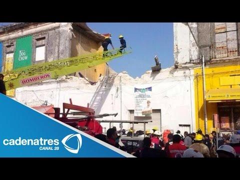 Derrumbe en Mérida Yucatán deja 16 personas lesionadas