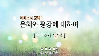 2021년 7월 25일 4부 주일예배 (청년부예배)