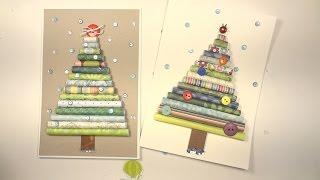 как сделать новогоднюю открытку скрапбукинг