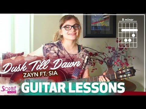 Zayn ft. Sia - Dusk Till Dawn | Easy Guitar Songs for Beginners & Chords (by Sophie Pecora)