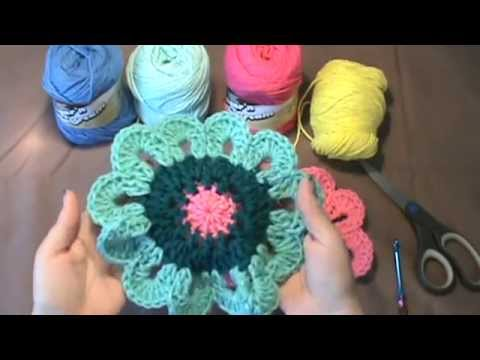 How To Crochet The Quot Flower Power Valance Quot Video 1 Of 2