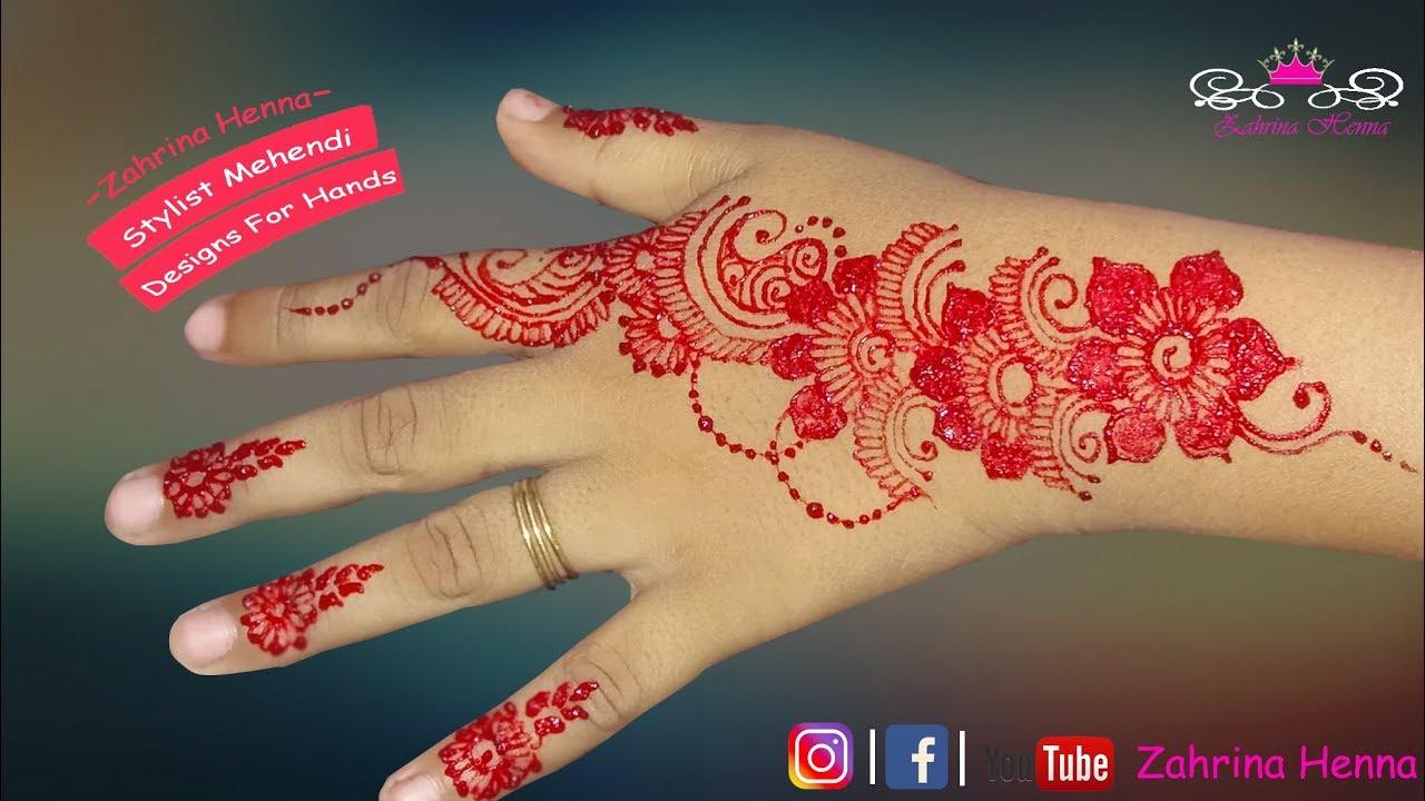 Tutorial Henna Design Mediun Desain Kecil Yang Cantik Bermotif