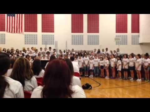 matawan Aberdeen middle school full chorus warm up