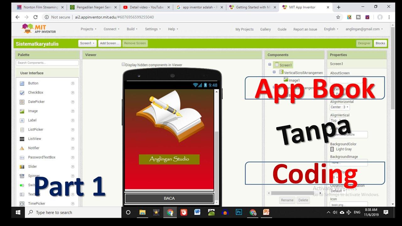 Cara Membuat aplikasi android ebook tanpa coding dengan app ...