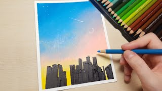 똥손들도 따라할 수 있는 색연필 풍경 그리기/easy …