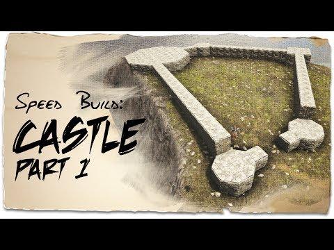 Building a Castle: Part 1 - Uneven Ground | ARK: Survival Evolved | Base Design