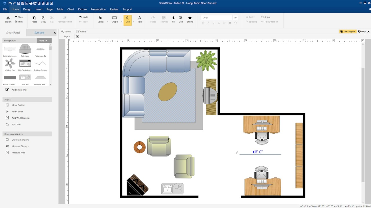 quick introduction create a floor plan with smartdraw - Smartdraw Support
