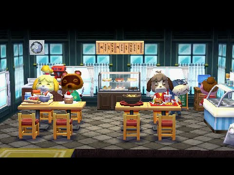 Animal Crossing Happy Home Designer Decorating the Restaurant
