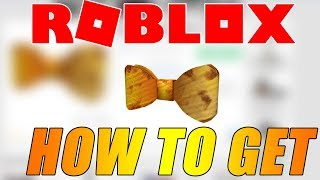 COMMENT POUR GET THE DIY CARDBOARD BOW TIE IN ROBLOX BLOXYS EVENT