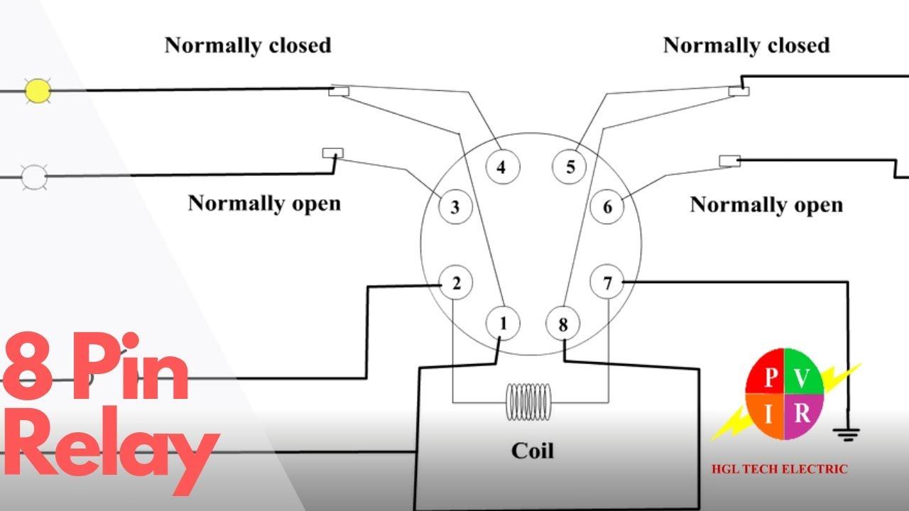 8 pin socket relay wiring diagram
