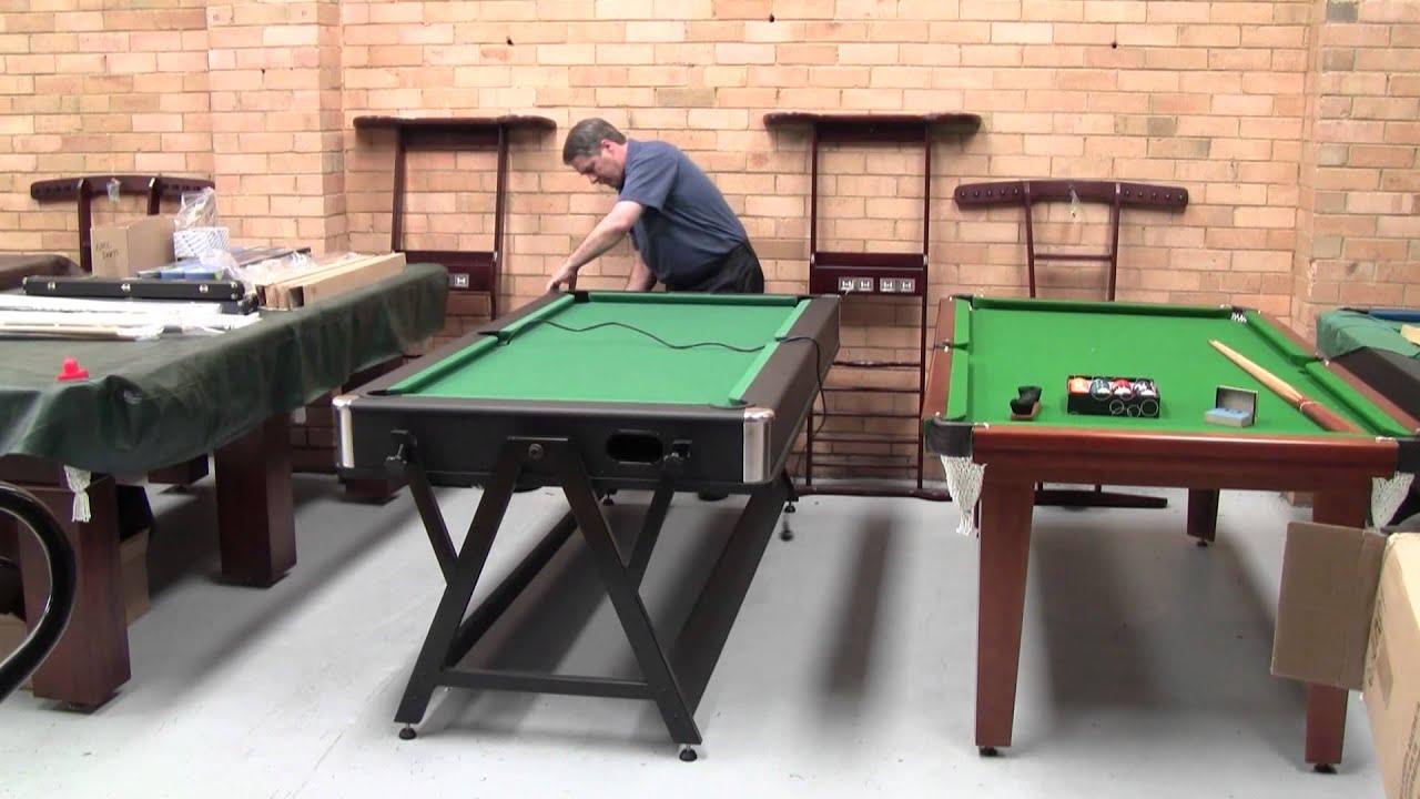 Eddie Charlton Foot Swing Table.Pool Table And Air Hockey Table