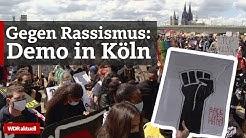 Black Lives Matter in Köln: Teilnehmer solidarisieren sich bei Anti-Rassismus-Demos | WDR aktuell