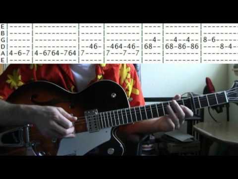 guitar lessons online Neil Diamond sweet caroline tab - YouTube