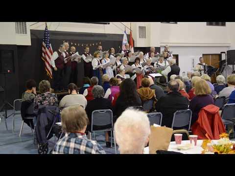 Christmas Songs at the Swiss Concert, Helvetia-Alpengluehn, by John Franklin Palm