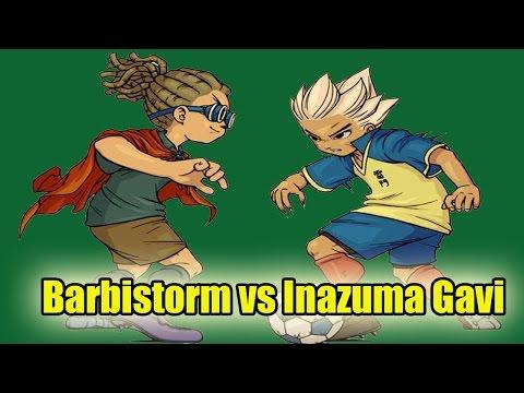 Inazuma eleven go Chrono Stones: Barbi Storm (Barbilla) VS Inazuma Gavi (Gavi)
